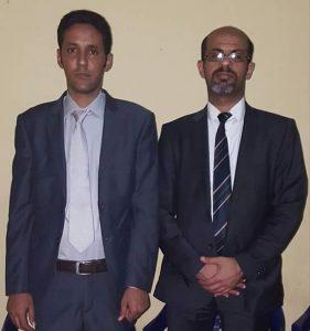 السيد عيسى فخري مع رئيس المنظمة الشبابية للصواب