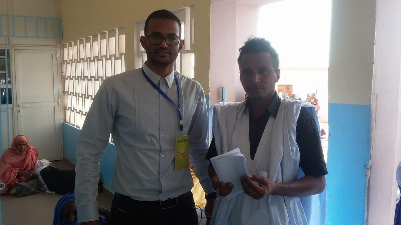 الدكتور عنا عبد الله وشيخ الرجالة أحمد لعلي
