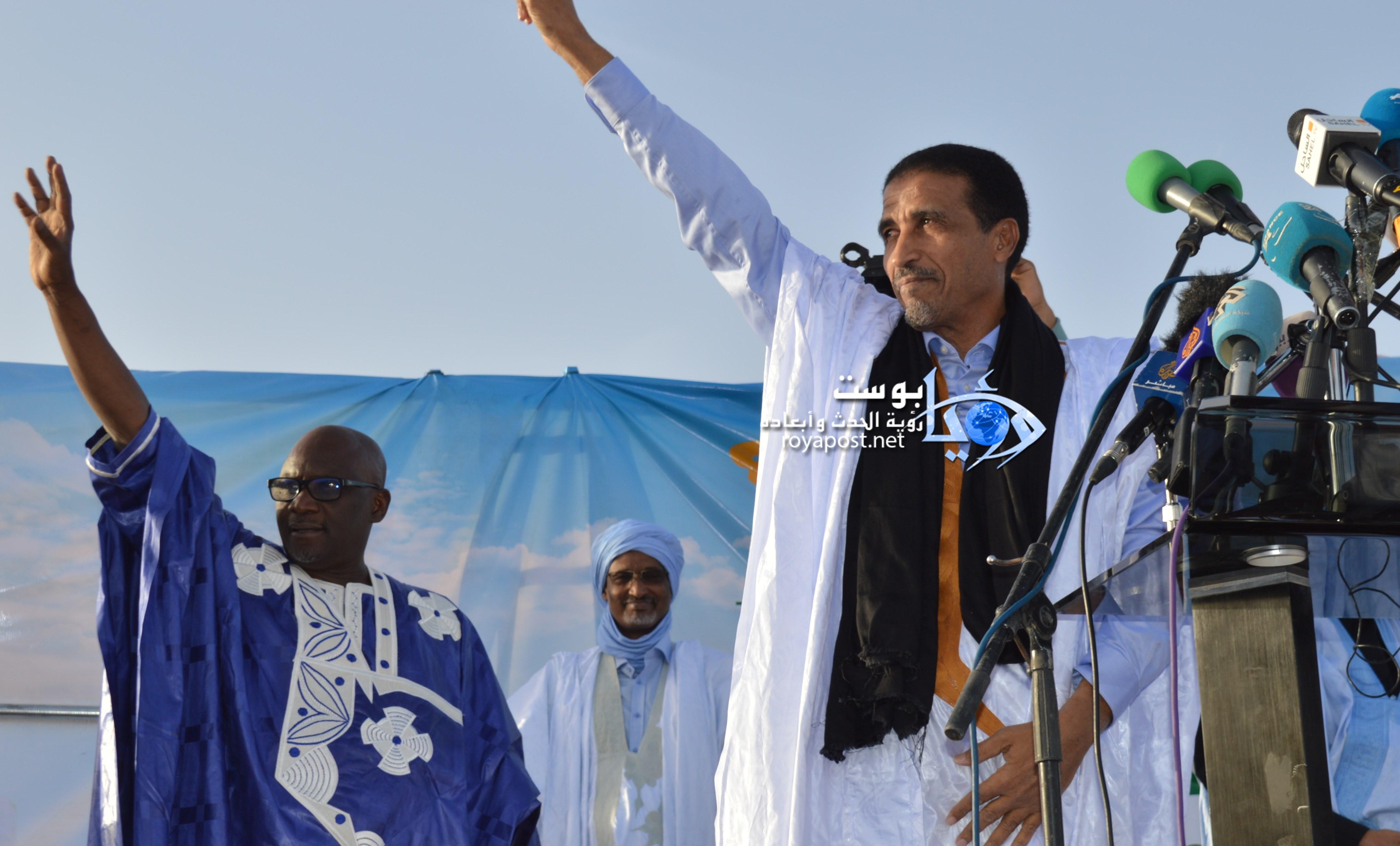 صورة زعيم حزب اليسار الموريتاني يغادر الحجر الصحي الاحترازي