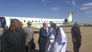 صورة وصول رئيس الجمهورية لعاصمة كيدي ماغا