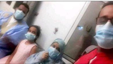 صورة سلفي للمصابين الأربعة أبناء الحالة التاسعة المتوفاة بكوفيد19