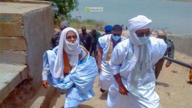 صورة گيدي ماغا: والي الولاية يقوم بعملية تحسيس ضد الوباء في القرى النهرية