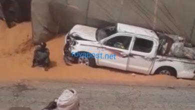 صورة نجاة مسافرين من موت محقق على طريق بوتلميت