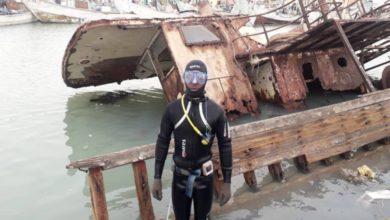 صورة نواذيبو: بدء عملية رفع هيكل سفينة ميرمار المتعطلة منذ عقدين