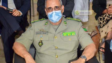صورة الفريق محمد ولد مكت في زيارة للأركان الجوية