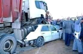 صورة حوادث على طريق بوتلميت بعد ساعات من قرار إلغاء حظر تنقل الأشخاص