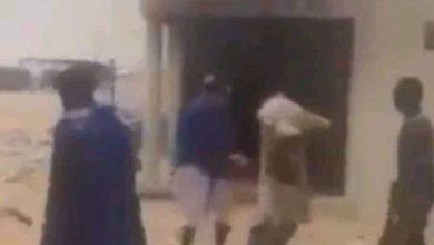 صورة مخربون يحرقون مركز للشرطة في مقاطعة الشامي(الأجندات الخفية)
