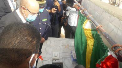 صورة نواذيبو: رئيس الجمهورية يضع الحجر الأساس لبناء مقرات المجالس الجهوية