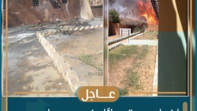 صورة إخماد حريق جزئي في محيط المستشفى الجهوي بتجكجة