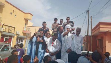 صورة ازويرات: متظاهرون أمام مباني الولاية ضد تراخيص وحدات معالجة الذهب